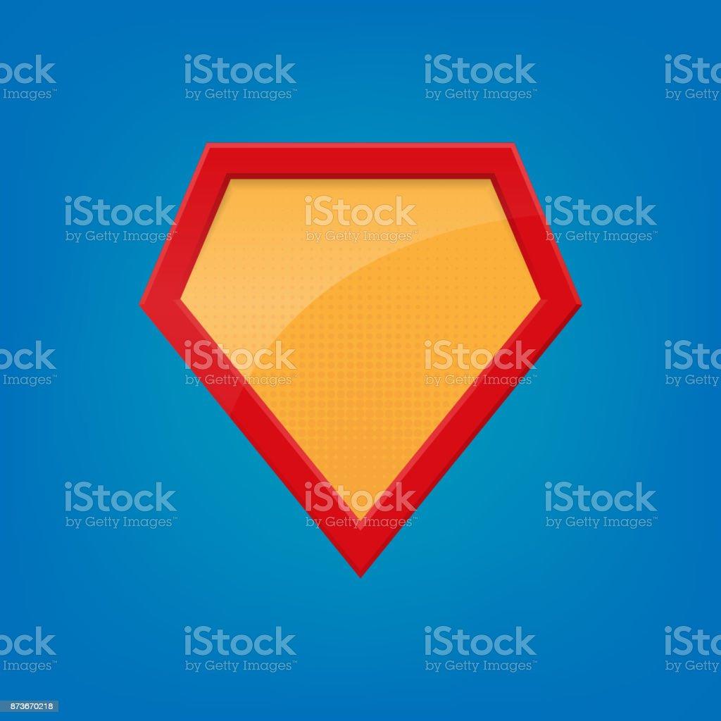 Leere Superheldenabzeichen Superheldenlogovorlage Isoliert Auf ...