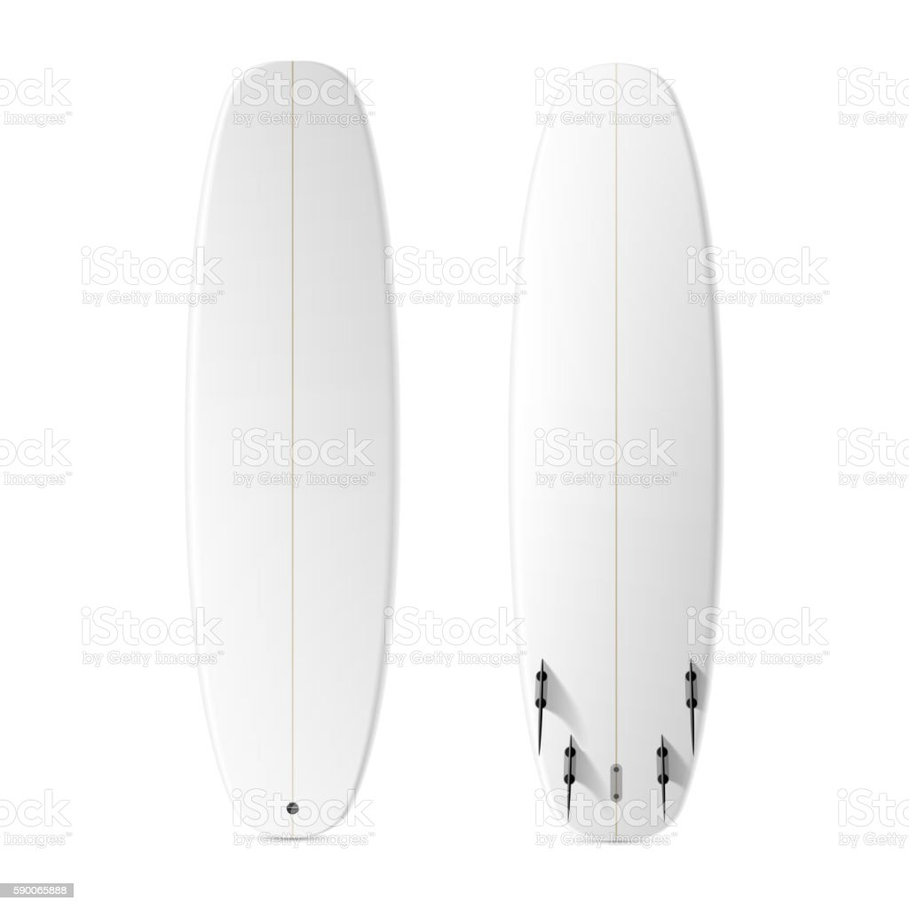 Blank Surfboard Template Stock Vector Art & More Images of Activity ...