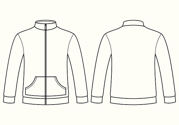 Royalty Free Mens Sweater Design Template Clip Art, Vector