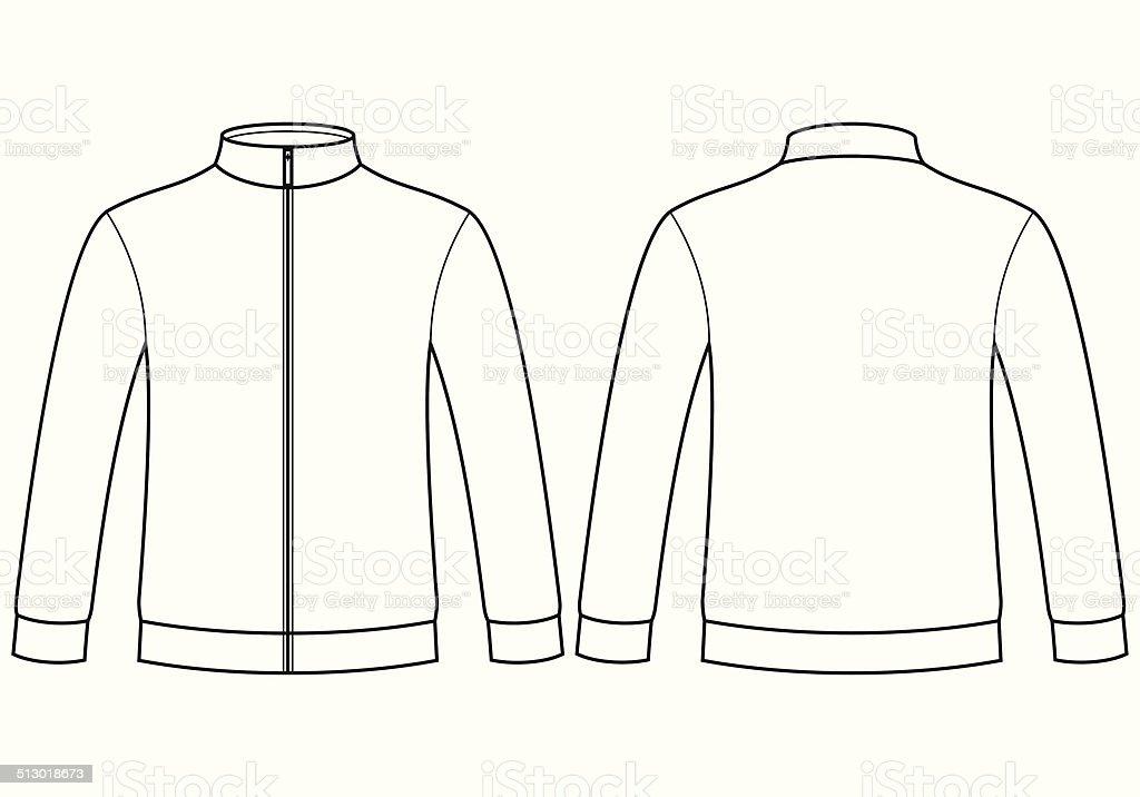 Blank sweatshirt template vector art illustration