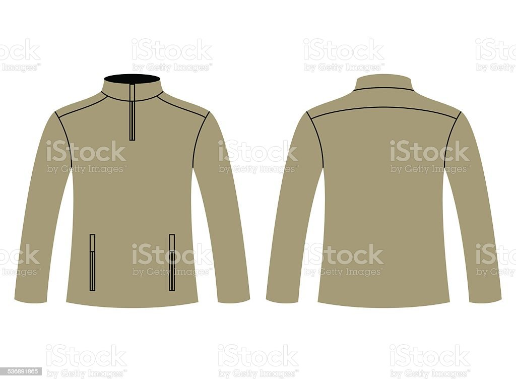 Blank sweatshirt template vector art illustration
