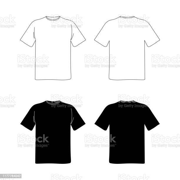 Basic T Shirt Template Vector Art Graphics Freevector Com