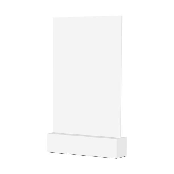 空白の卓上ディスプレイ スタンド モックアップ - テーブル 無人点のイラスト素材/クリップアート素材/マンガ素材/アイコン素材