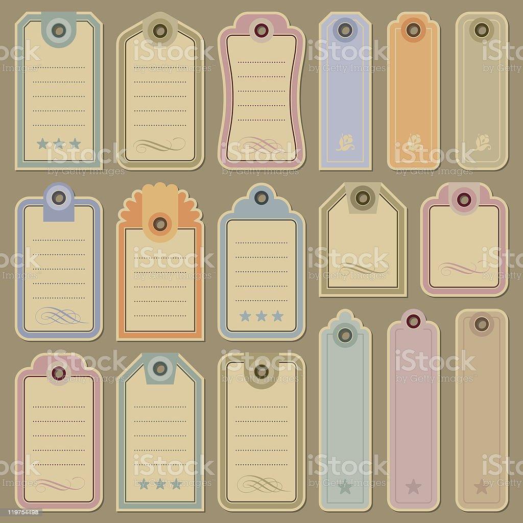 blank tags set (vector) royalty-free stock vector art