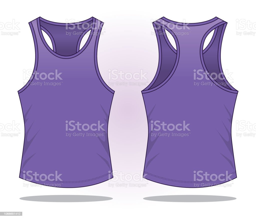 Blank Tank Top For Template Stock Vector Art More Images Of Art
