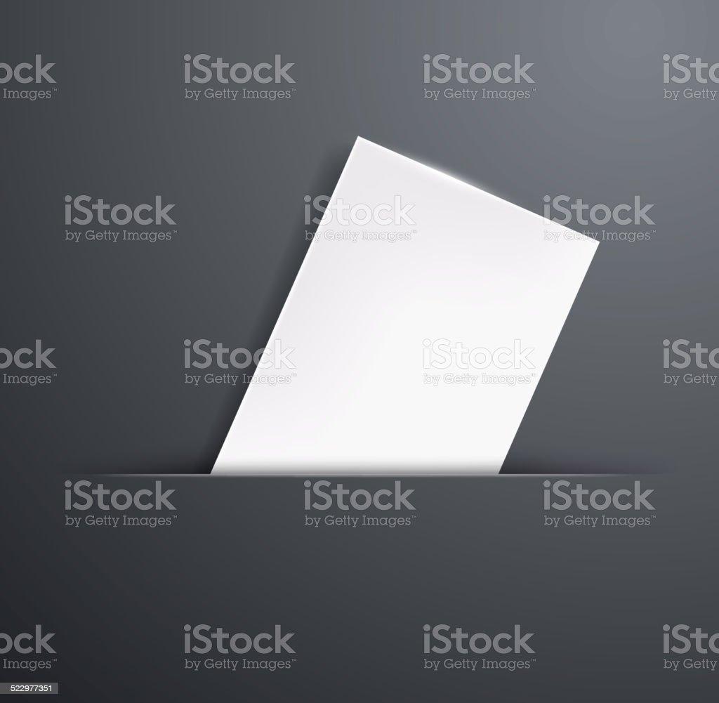 blank template business card vector art illustration