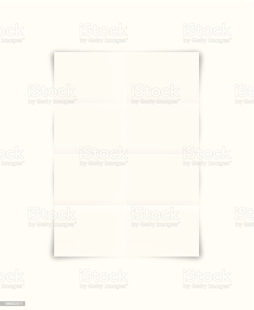 Blank template illustration of folded brochure or paper royalty-free stock vector art