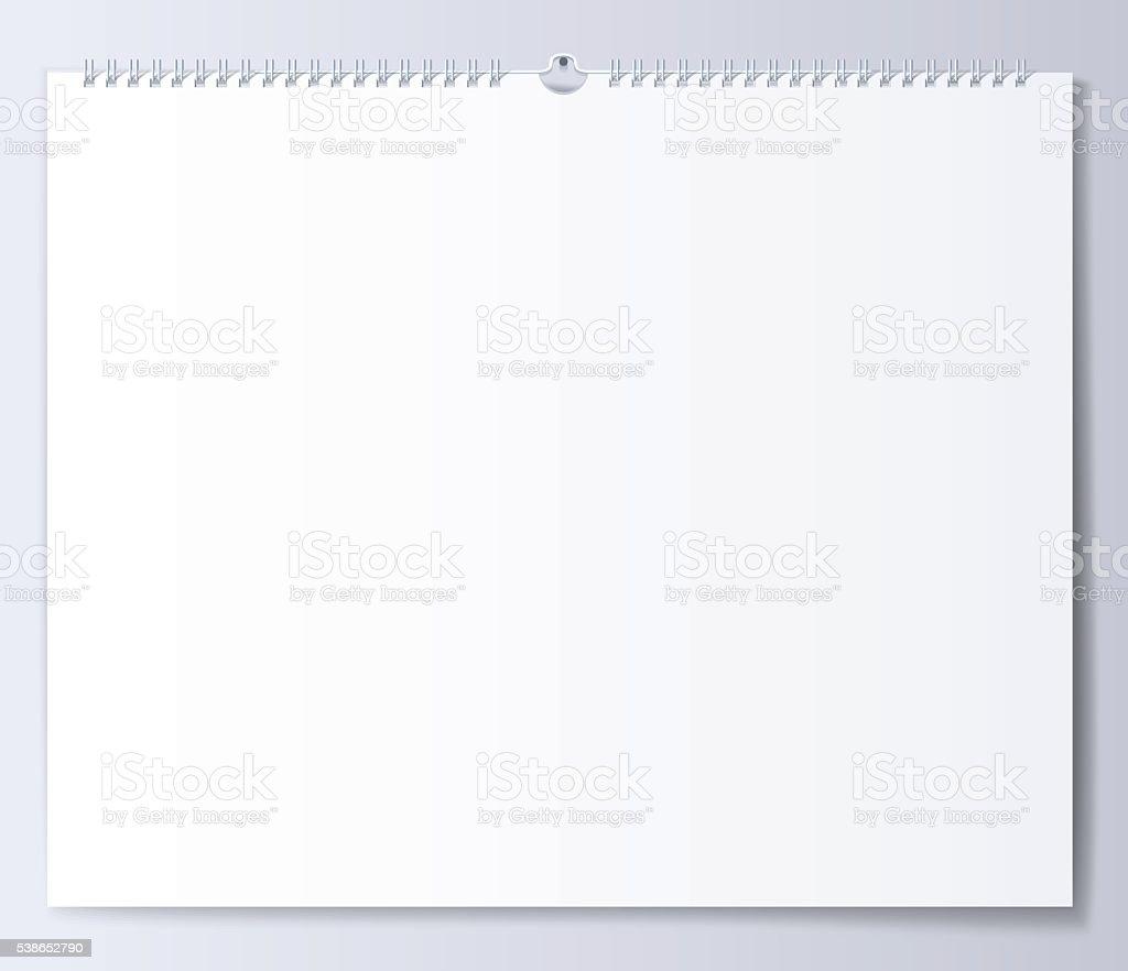 Leere Vorlage Wand Kalender Für Den Frühling Stock Vektor Art und ...