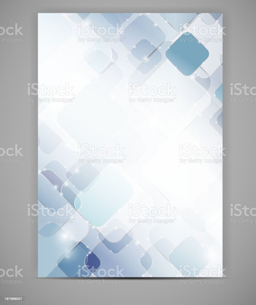 Blank template white and blue squares vector art illustration