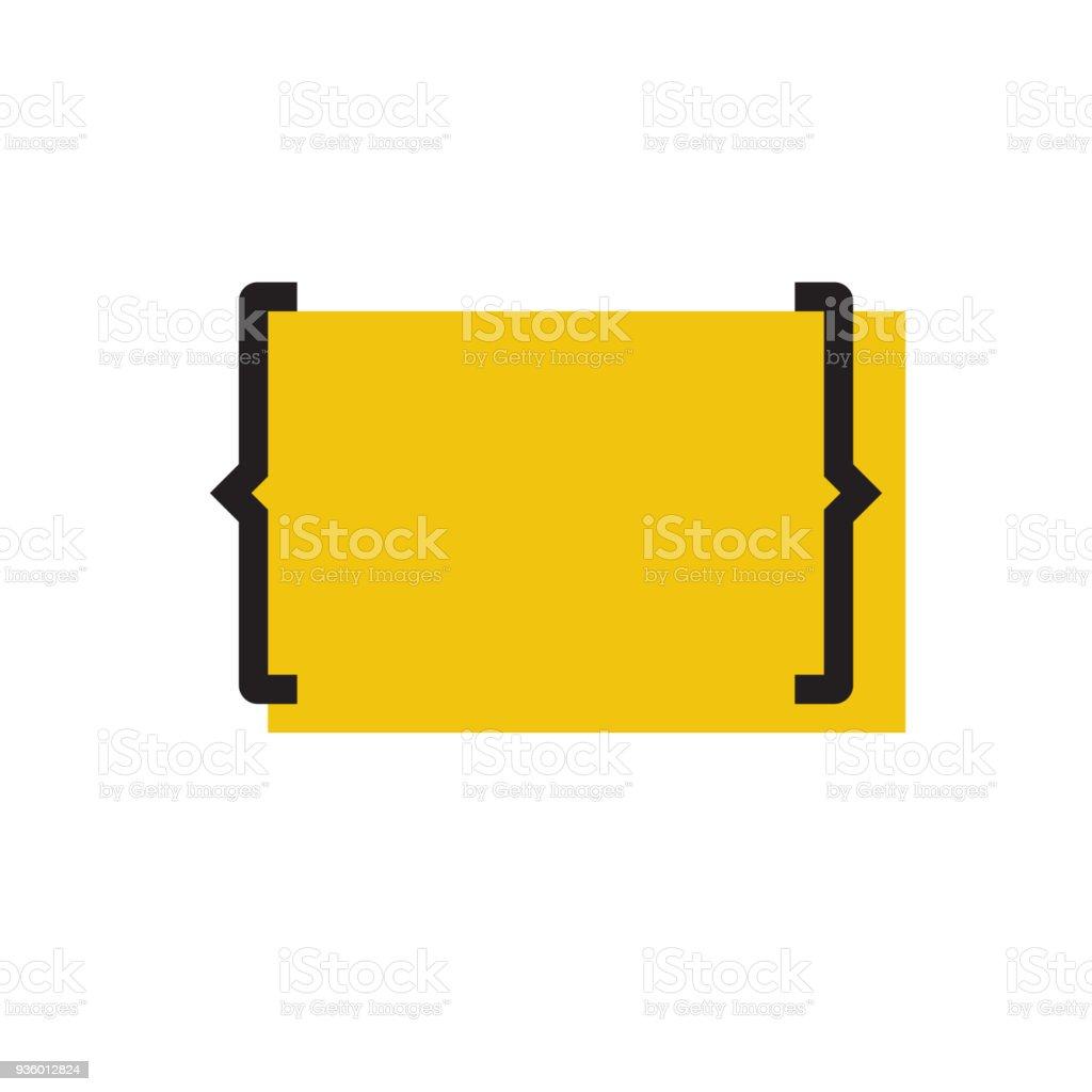 Blank template with bracket vector art illustration