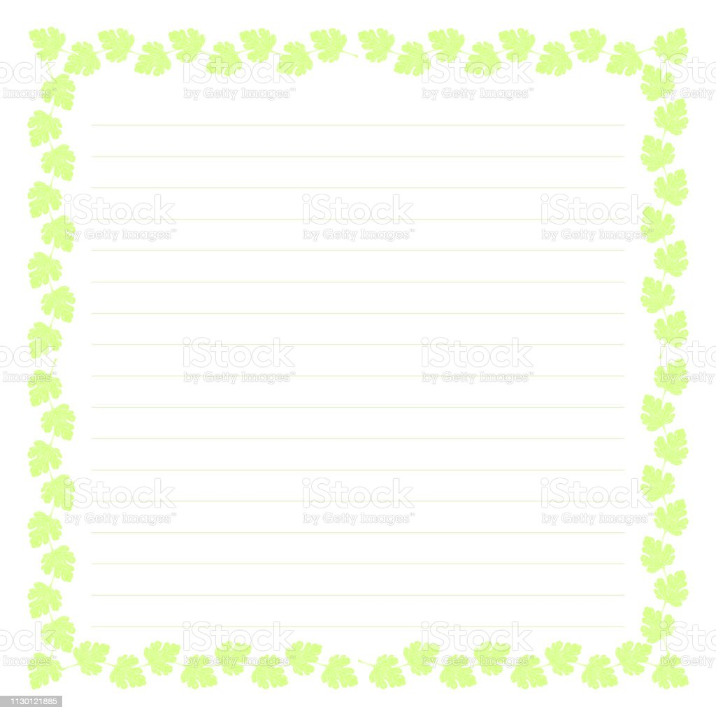 Blank Template With Illustration Background And Lines Of