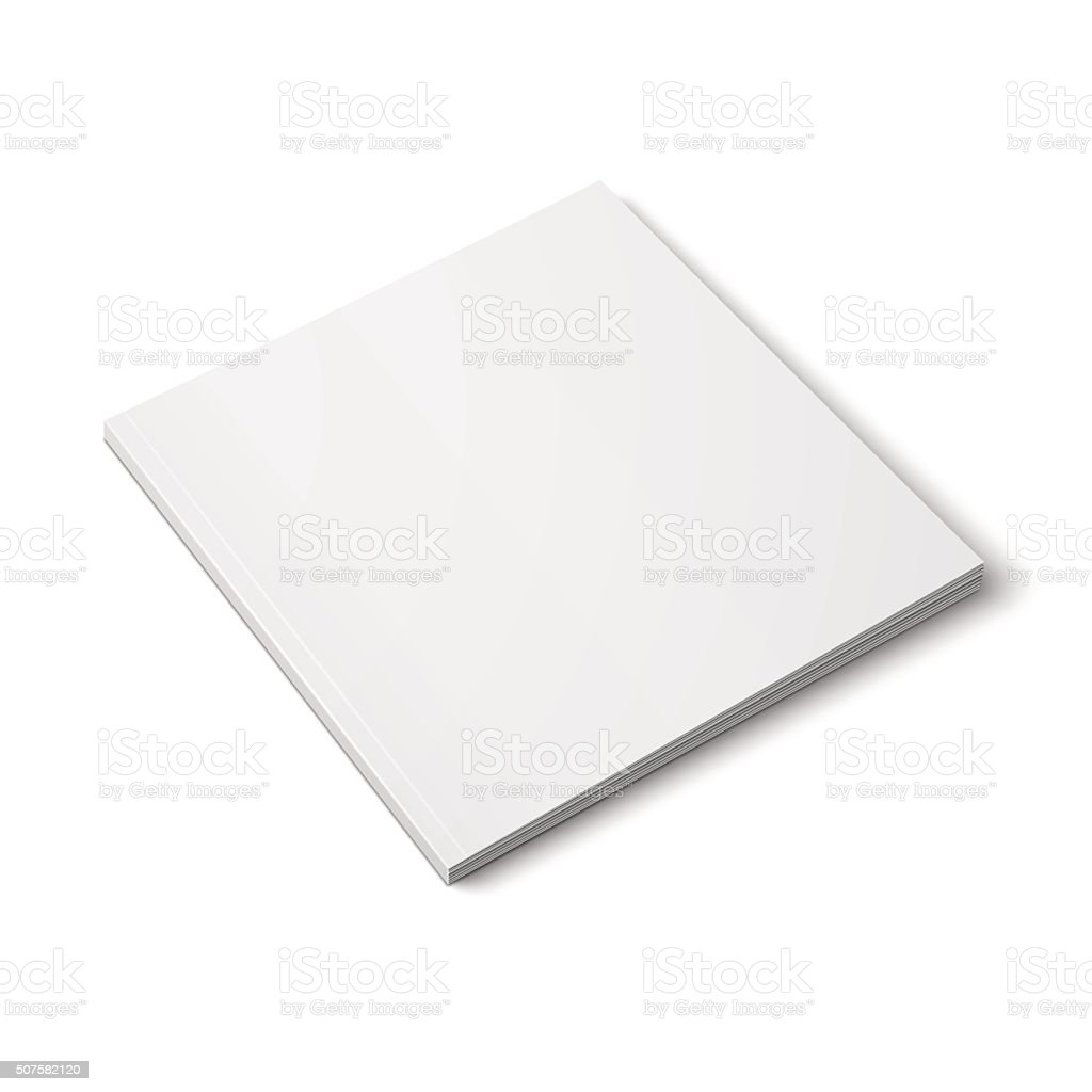 Blank Thick Square Magazine Template Stock Vector Art More Images