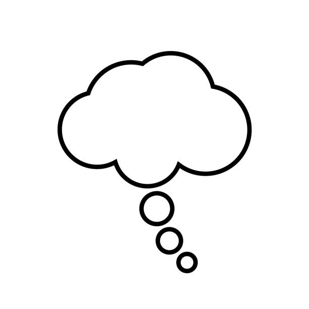 Blank thought bubble vector art illustration