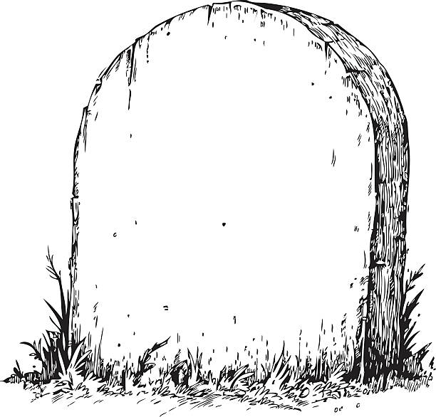 blank tombstone - tombstone stock illustrations, clip art, cartoons, & icons
