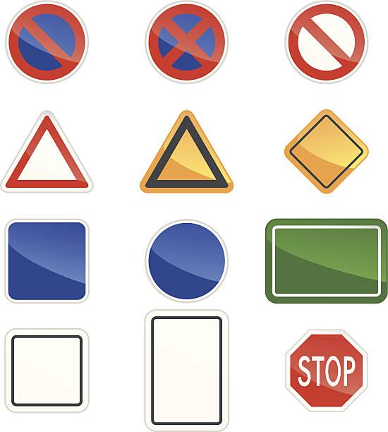 ilustraciones, imágenes clip art, dibujos animados e iconos de stock de blanco señal de tráfico - señalización vial