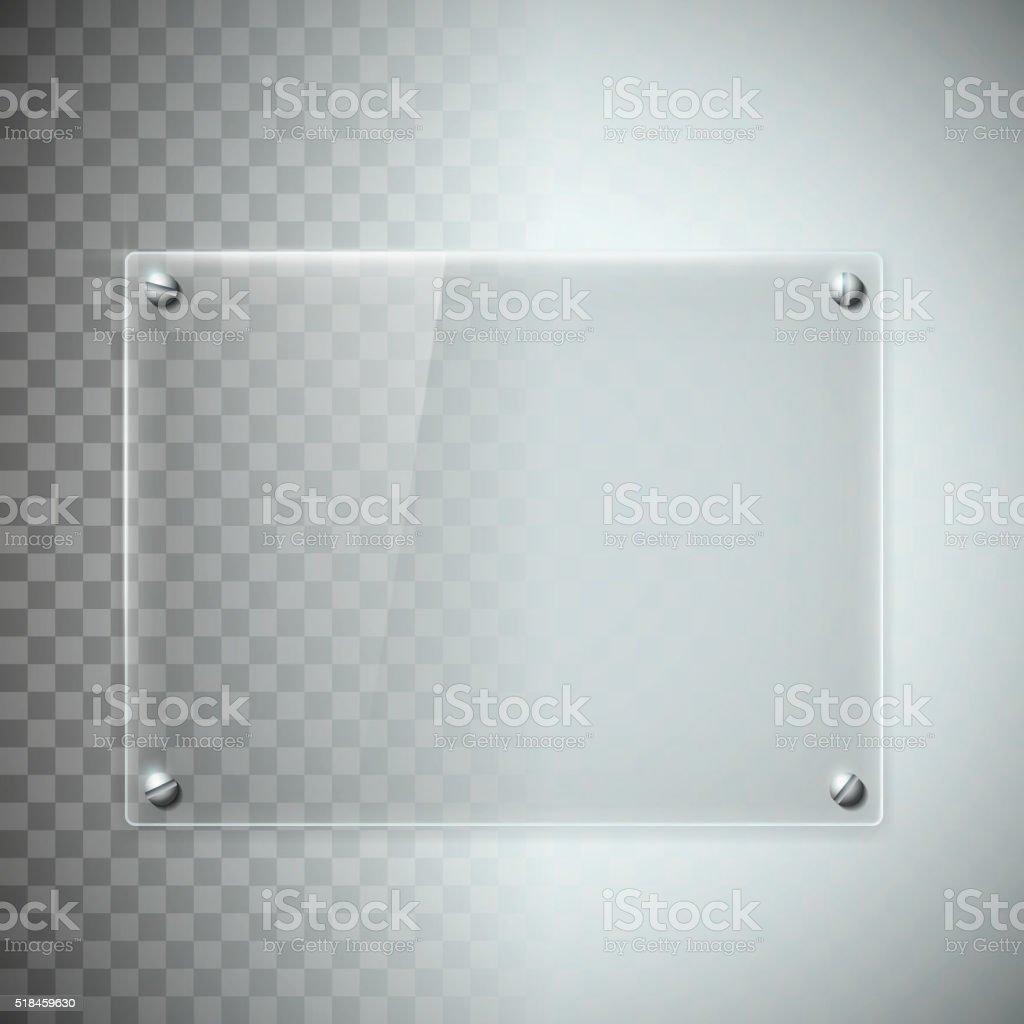 Ilustración de Blanco Transparente Una Placa De Vidrio Textura De ...