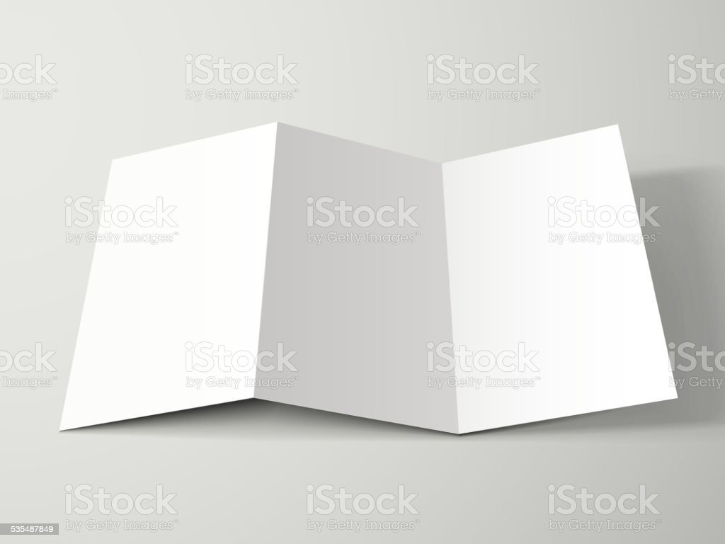 blank trifold brochure design stock vector art more images of 2015