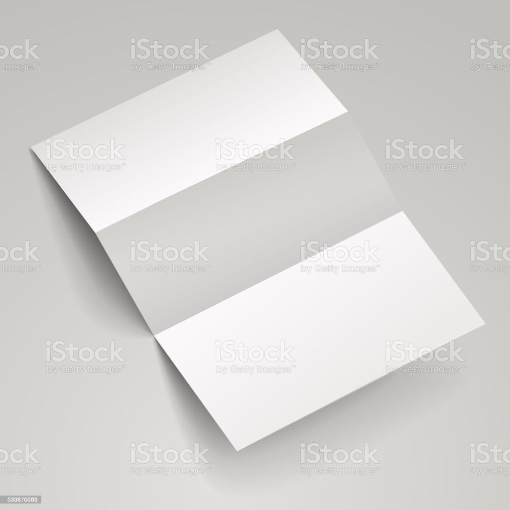 Blank Trifold Brochure Template Stock Vector Art More Images Of