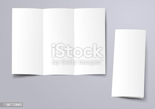 blank trifold brochure mockup