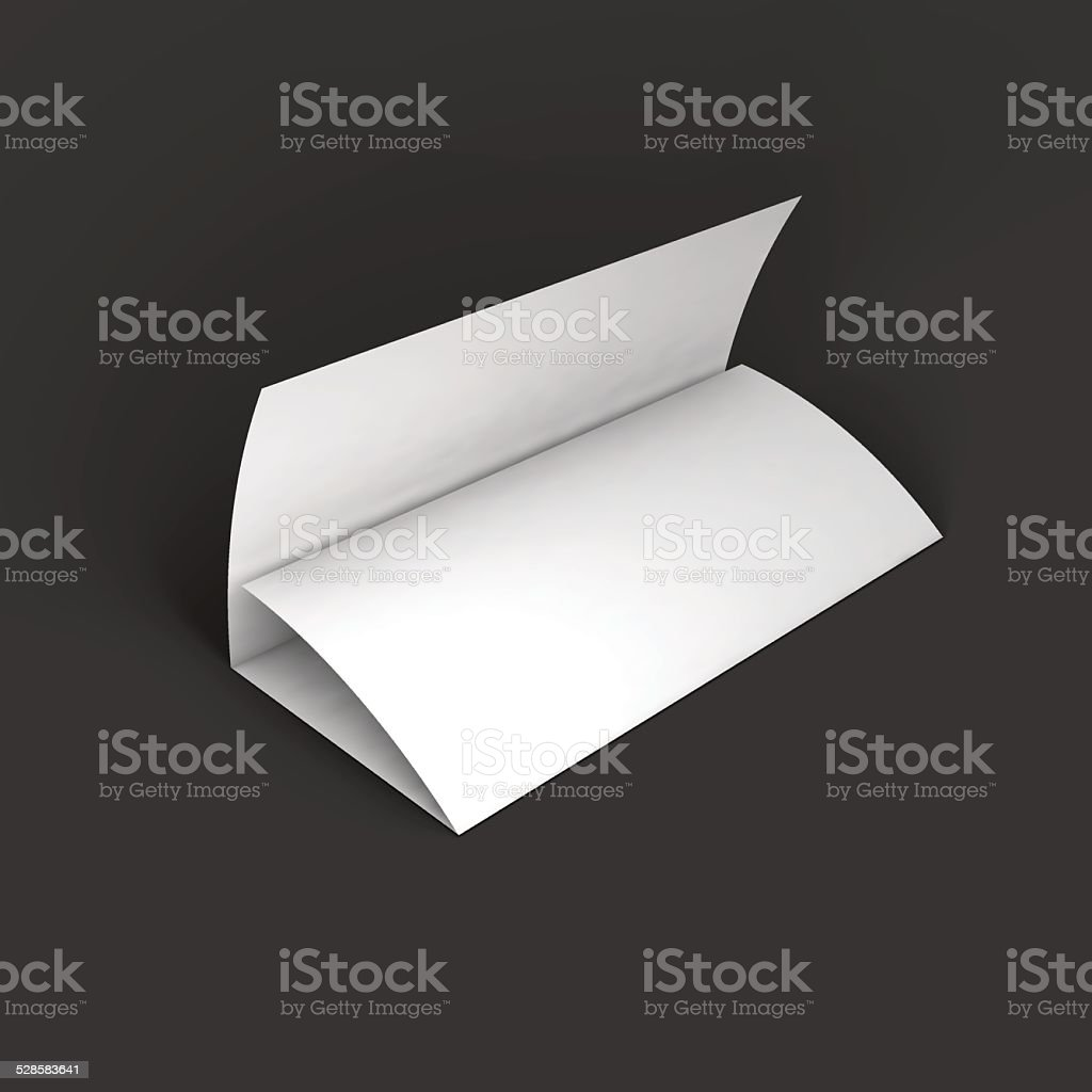 blank trifold paper brochure mockup template stock vector art more