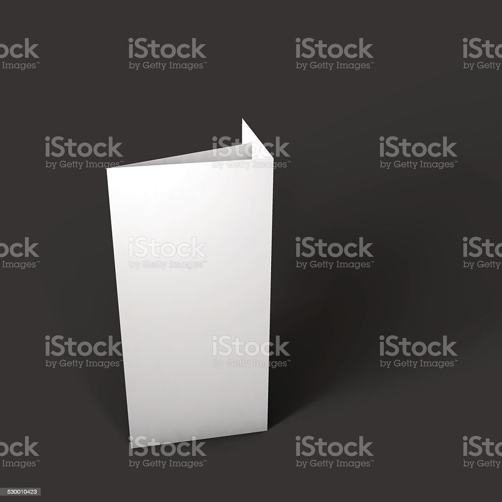 Blank trifold paper brochure mockup. vector art illustration