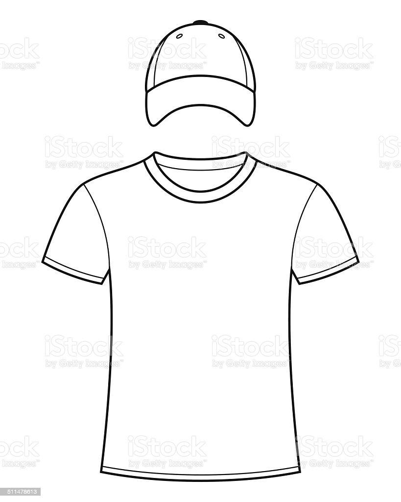 Leere Vorlage Tshirt Und Cap Stock Vektor Art und mehr Bilder von ...