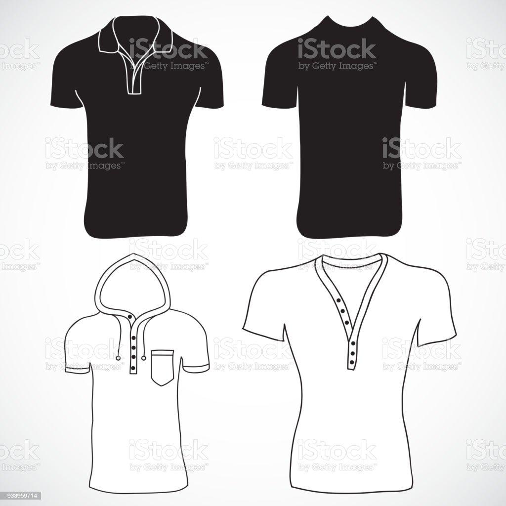 Ilustración de Camiseta En Blanco Y La Plantilla De Manga Larga ...