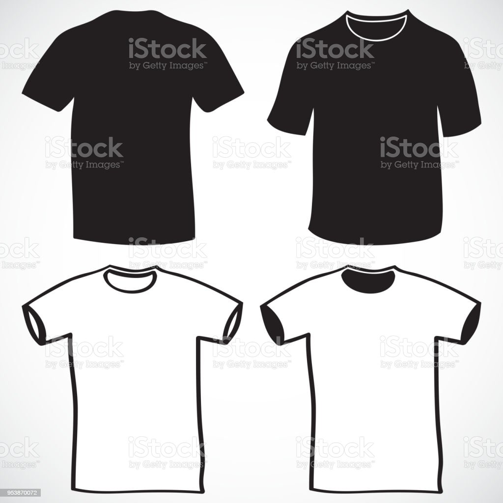Blank tshirt and long sleeve template front and back stock vector blank t shirt and long sleeve template front and back royalty free blank maxwellsz