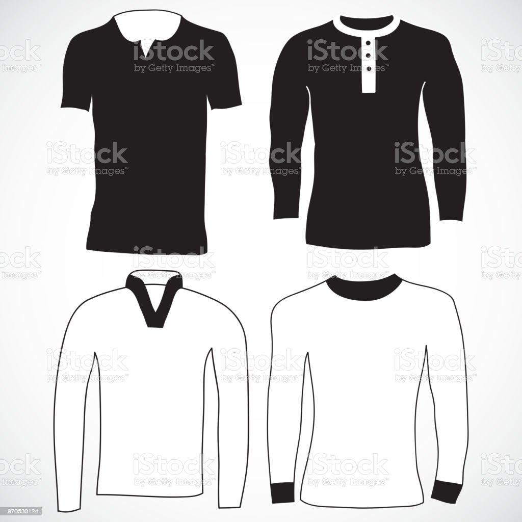 Long Sleeve Tee Shirt Template Vector