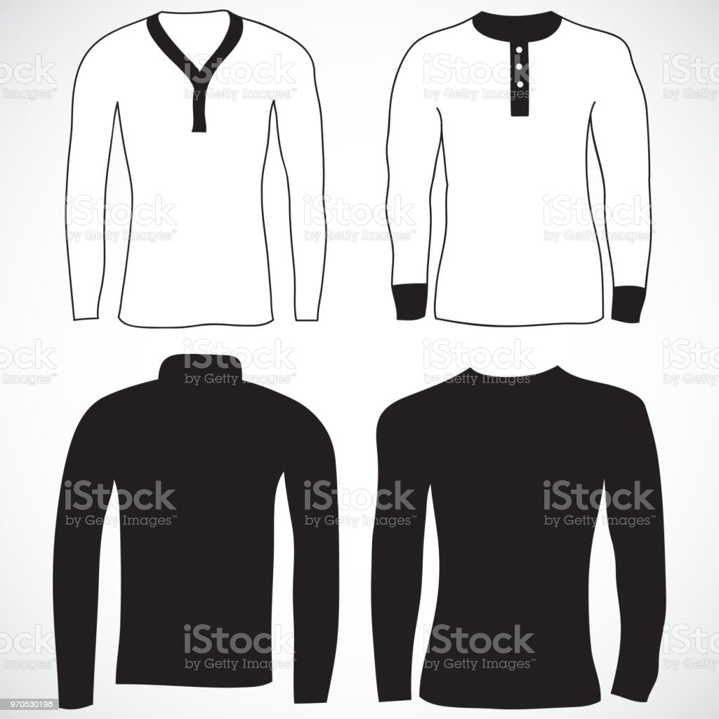 d751a501bb4 Blank t-shirt and long sleeve template. Front and back royalty-free blank