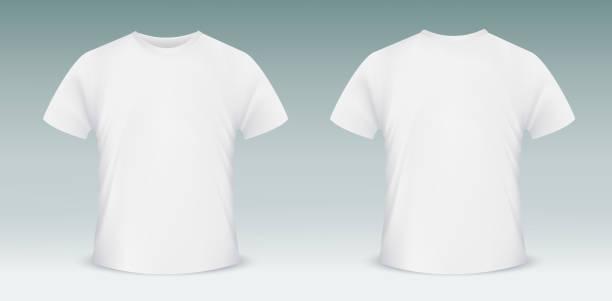 ブランクテンプレートの t シャツです。 フロントとバックのサイド - tシャツ点のイラスト素材/クリップアート素材/マンガ素材/アイコン素材