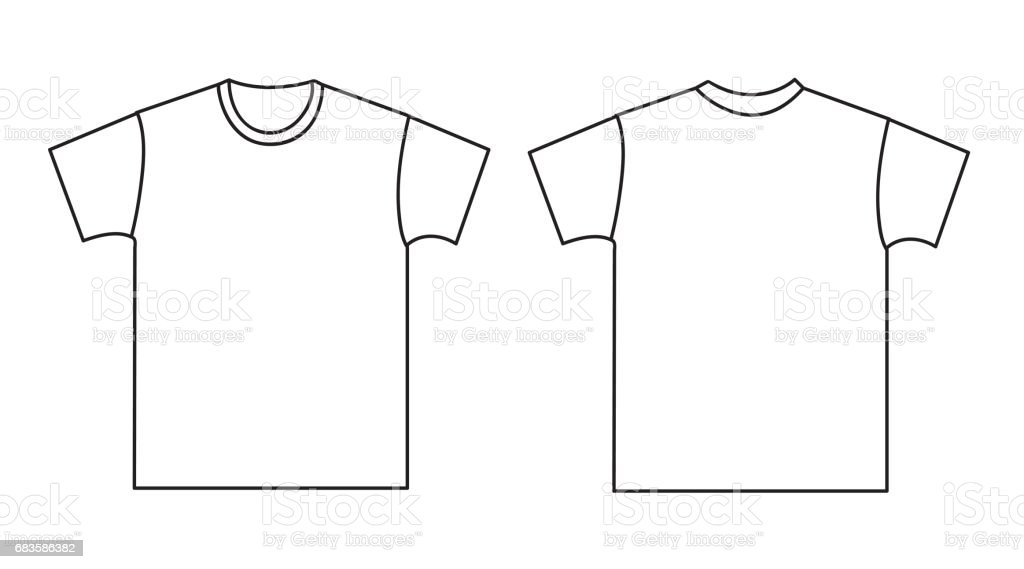 Blank Tshirt Template Front And Back Stock Vector Art  More Images