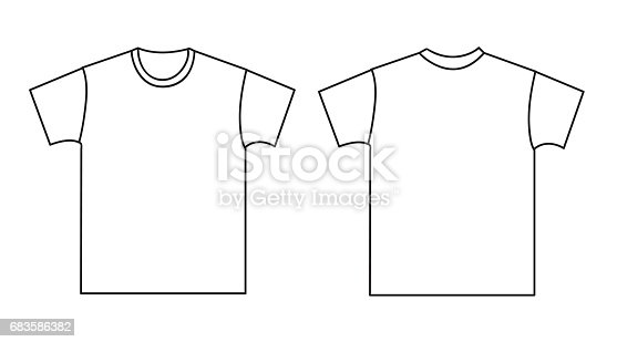 blank tshirt template front and back stock vector art