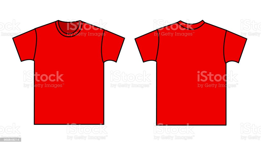 11dfd45f Blank t-shirt template. Front and back royalty-free blank tshirt template  front