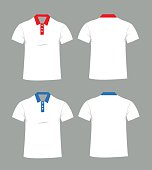Blank t-shirt template. Front and back vector illustration
