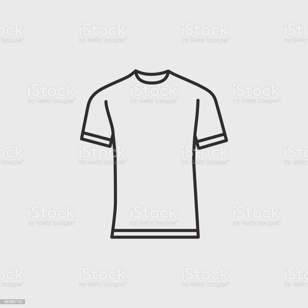 Blank Tshirt Template Stock Vector Art More Images Of Adult - Blank tshirt template