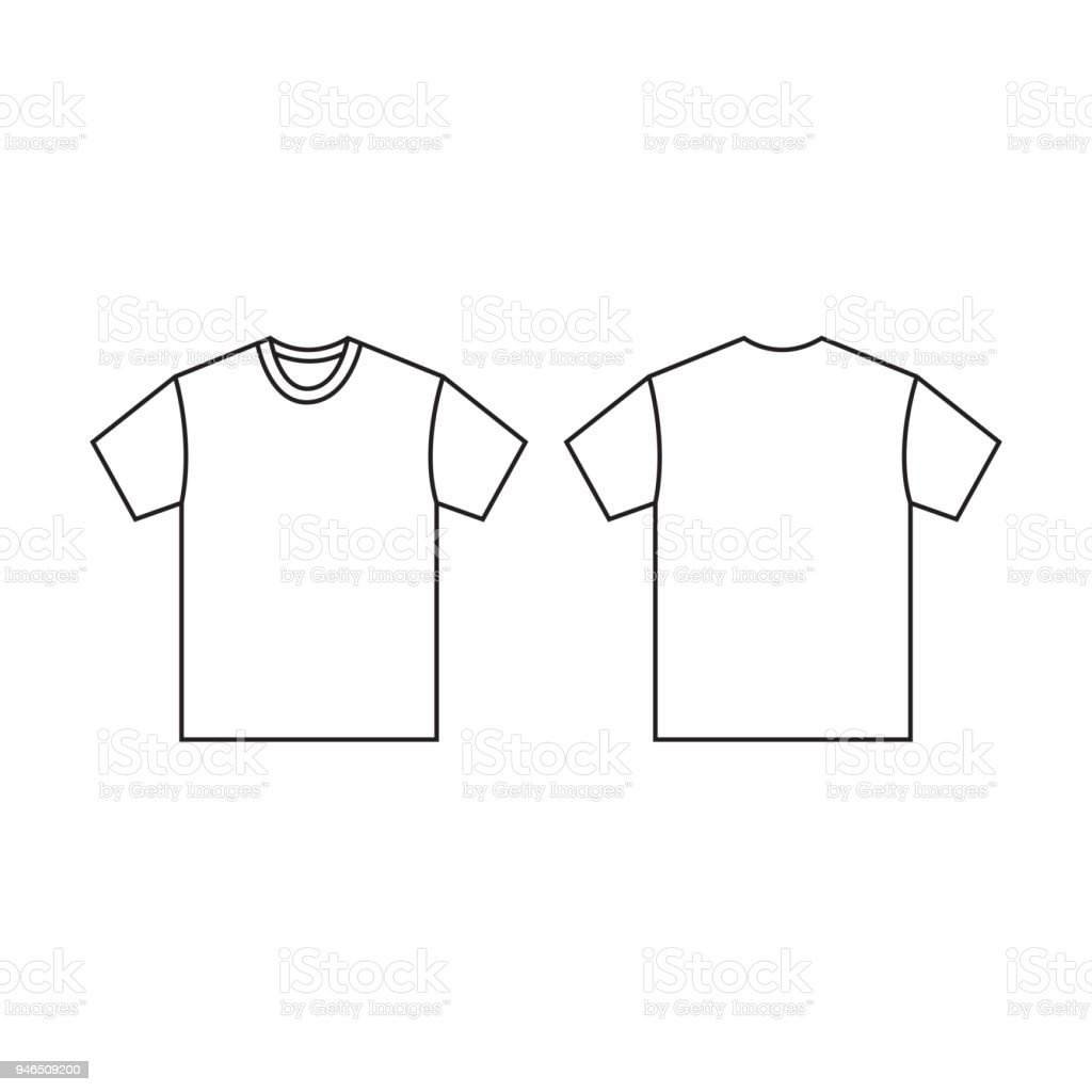 Blank Tshirt Template Vector Stock Vector Art More Images Of