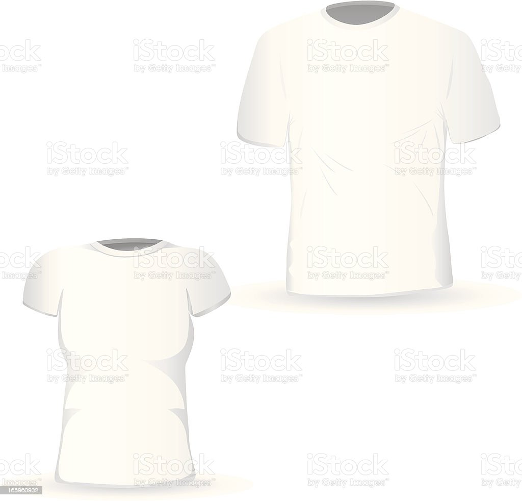 blank t-shirts design template vector art illustration