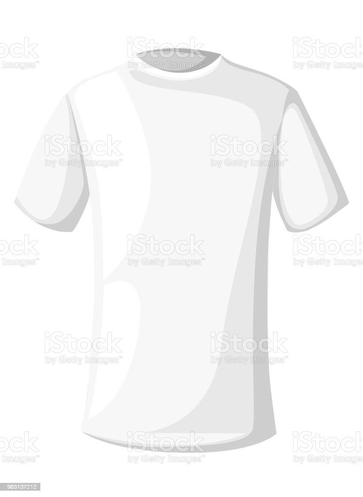Vetores De Modelo De Tshirts Em Branco Camisa Branca Unissex Projeto Do Estilo Dos Desenhos Animados Ilustracao Em Vetor Isolada No Fundo Branco Pagina Do Web Site E Aplicativo Movel E Mais