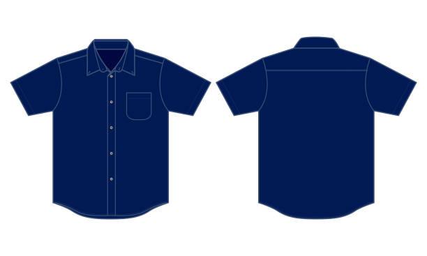 stockillustraties, clipart, cartoons en iconen met lege uniforme shirt vector - korte mouwen