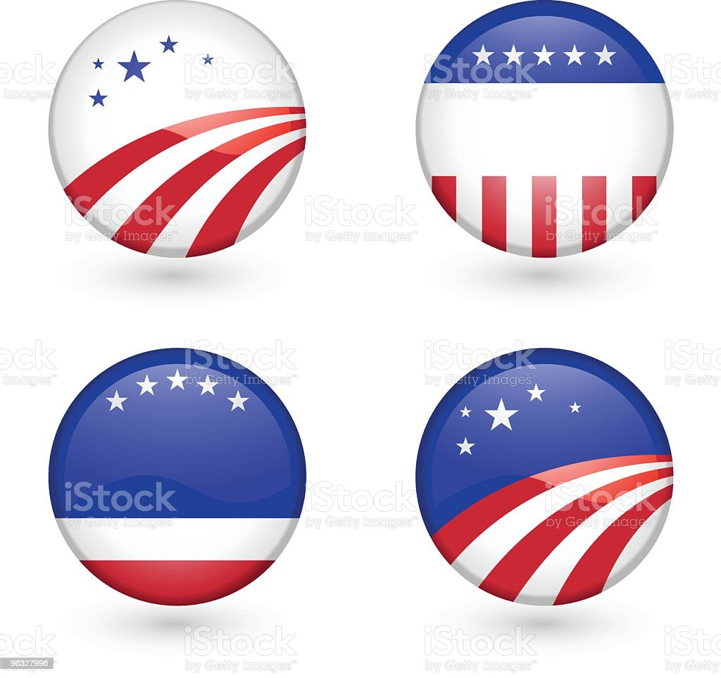 Blank US Campaign badges royalty-free stock vector art