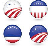 Blank US Campaign badges
