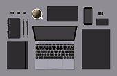 Blank vector brand template mockup for CI presentation