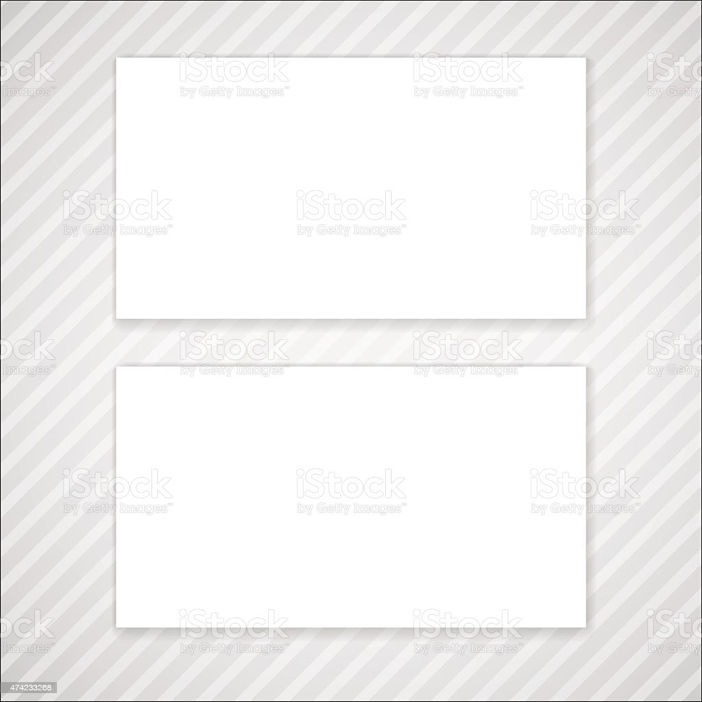 Blank Vector Business Card Template Stock Vector Art