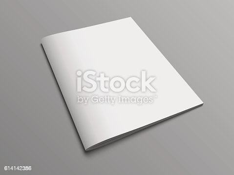 istock Blank vector catalog or brochure cover mock up. 614142386