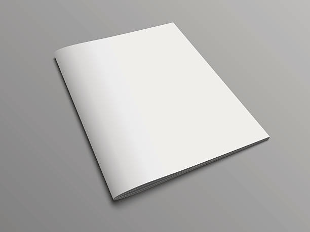 blank vector catalog or brochure cover mock up. - space background stock illustrations