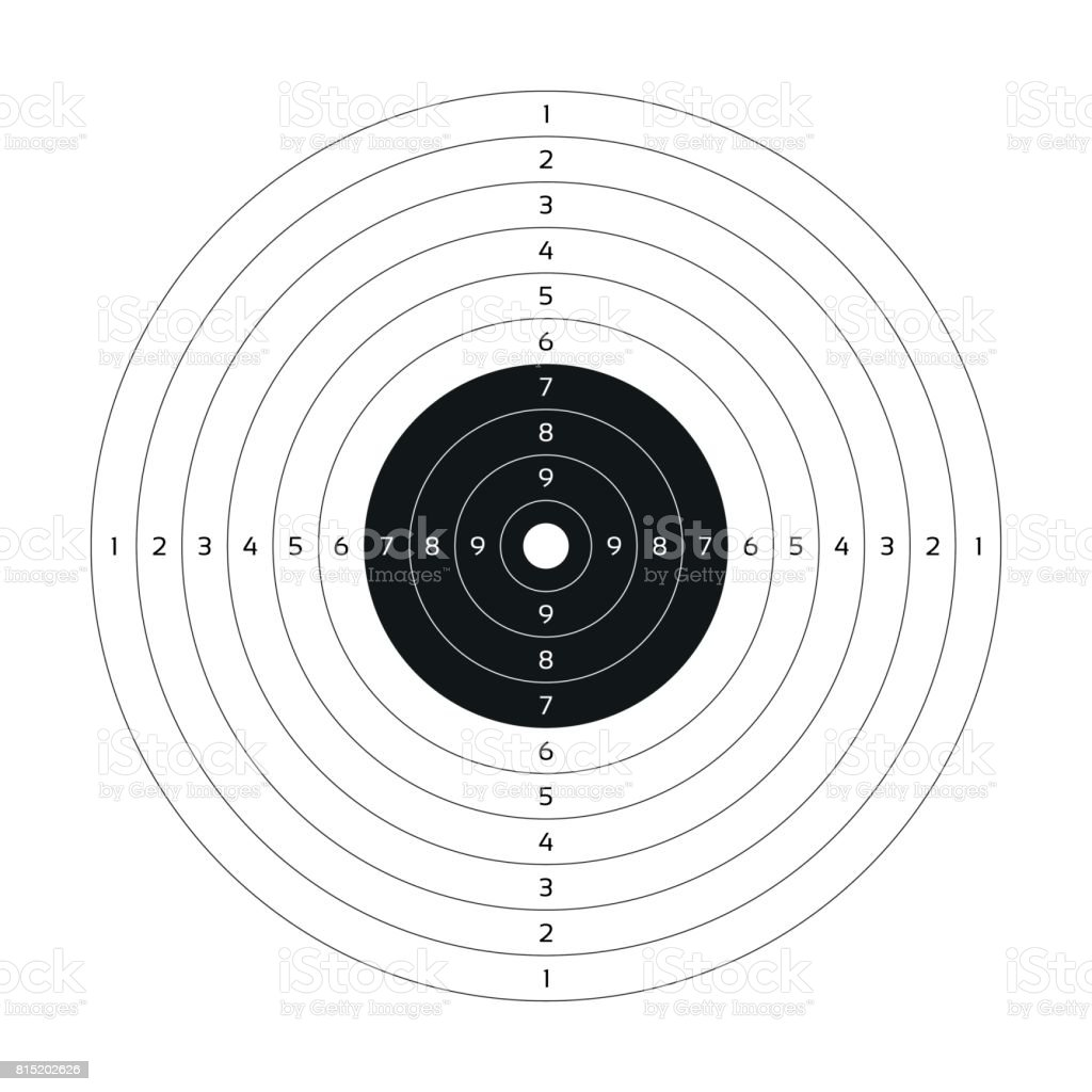 image about Printable Gun Stock Templates named Blank Vector Gun Focus Paper Capturing Aim Blank Template