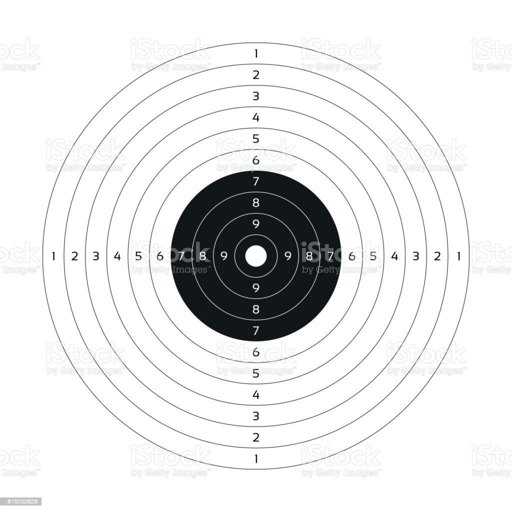 blank vector gun target paper shooting target blank template for