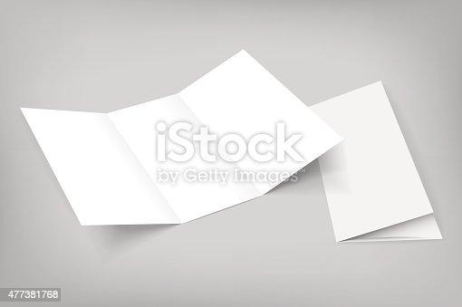 istock blank vector tri fold mockup on gray 477381768