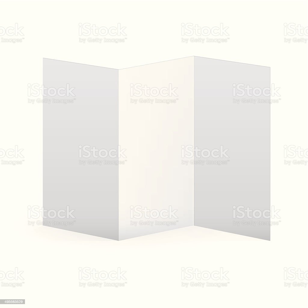 Blank Vector White Tri Fold Brochure Template Stock Vector Art - Free blank tri fold brochure templates